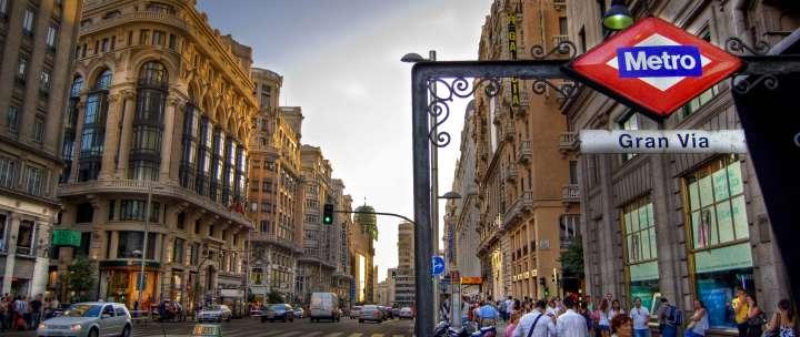 Главная улица в Мадриде