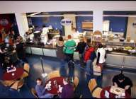 Comedor en el campus en Dublín