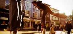 Artistas callejeros en Galway
