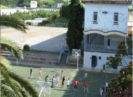 El patio de la escuela